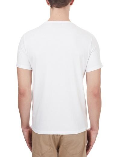 Etro  % 100 Pamuklu Baskılı Bisiklet Yaka T Shirt Erkek T Shırt 1Y020 9759 0990 Beyaz